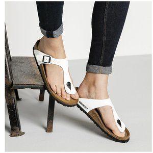 NEW Birkenstock Size 42 Gizeh Sandals White